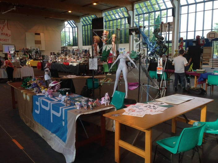 Stand et Atelier Papercraft